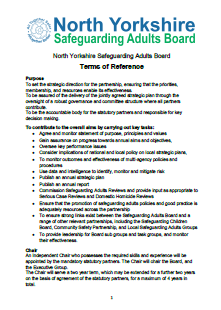 NYSAB and Subgroup Terms of Reference